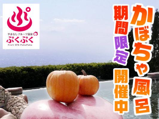 やまなしフルーツ温泉_かぼちゃ風呂2